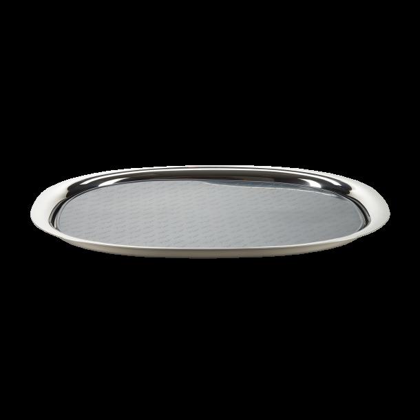 Superelliptisk bakke i poleret rustfrit stål - 41*31 cm