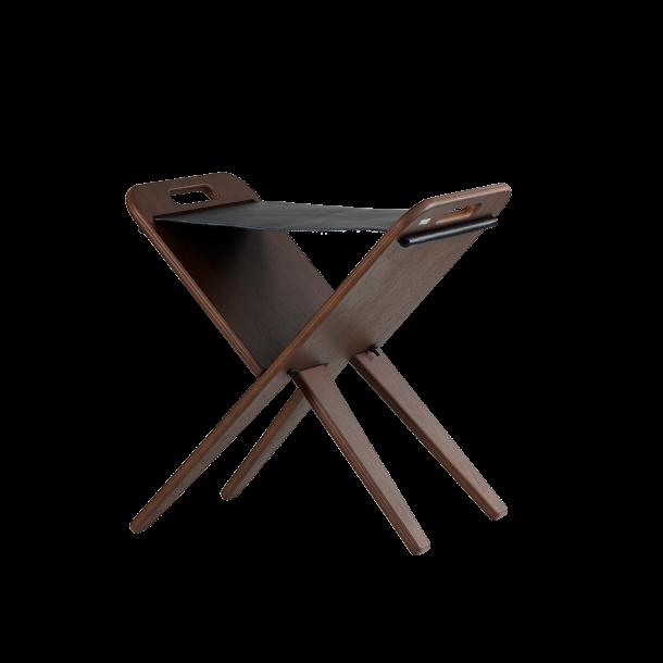 Klaburet - Walnut veneer, seat black leather
