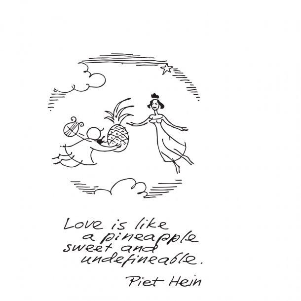 LOVE IS LIKE A PINEAPPLE, wallsticker