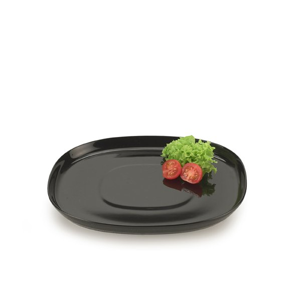 25*30 cm superellipse Plate BLACK - piet hein