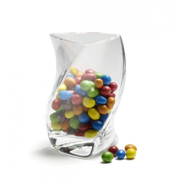 TWISTER-vase 16 cm - Klar ( 1 lag glas ) - 2. sort.