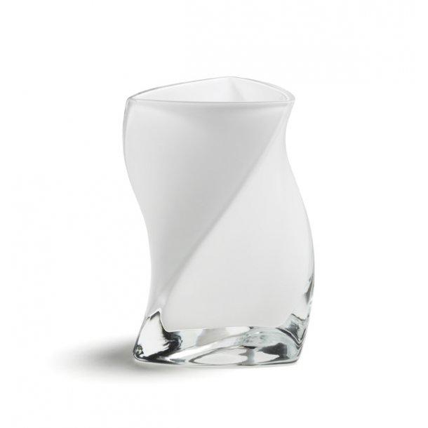 TWISTER vase 16 cm - OPAL (2 lag glas)