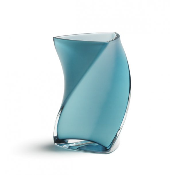 TWISTER vase 16 cm - AQUAMARIN (3 lag glas)