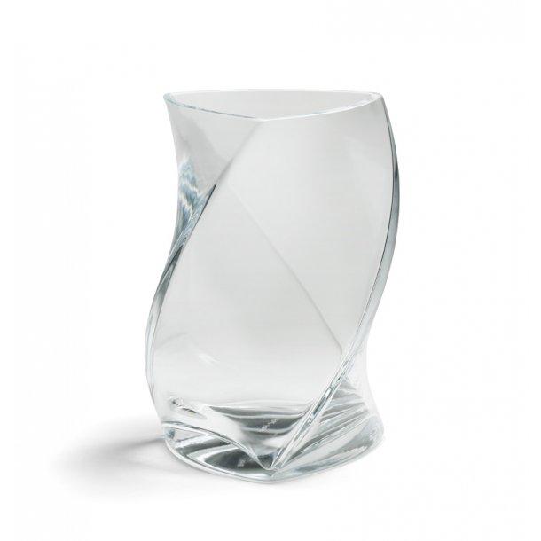 TWISTER vase 24 cm - KLAR (1 lag glas)