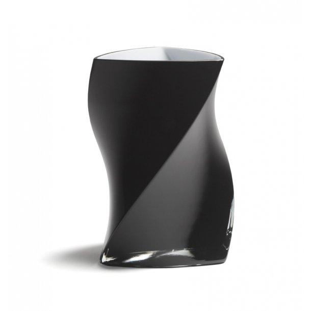PIET HEIN TWISTER vase 24 cm - SORT (3 lag glas)