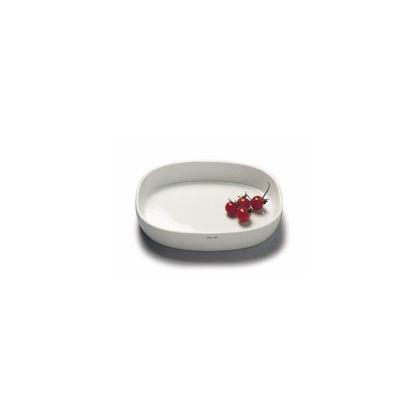 19x25x6,5 cm. Dish Porcelain - HIGH/WHITE - piet hein