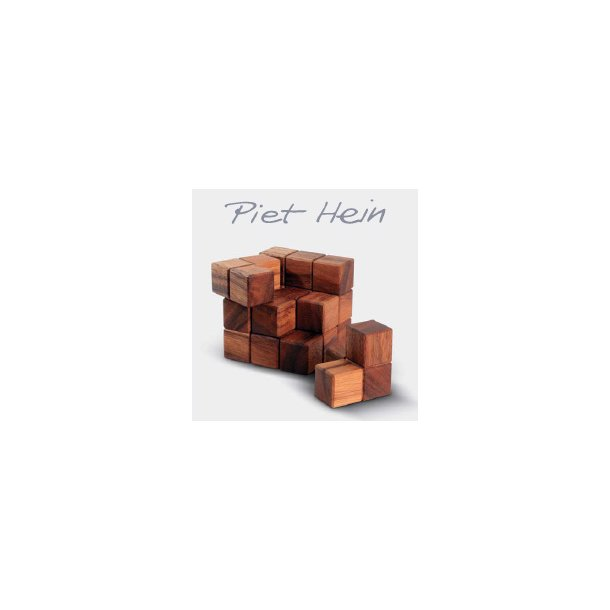 SOMA-8*8*8 cm - wood, invented 1933 - PIET HEIN