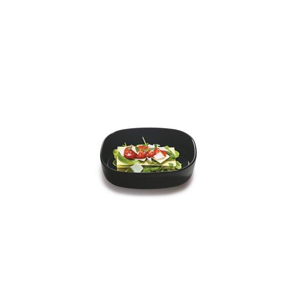 19x25x6,5 cm. Dish Porcelain - BLACK/HIGH - piet hein