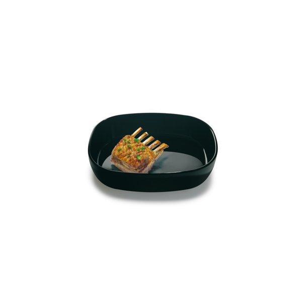 27x35x7,5 cm. Dish Porcelain - BLACK/HIGH - piet hein