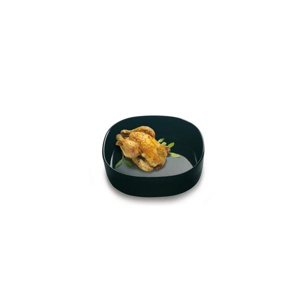 Super Circular Dish 26x26x7 cm. Porcelain - BLACK/HIGH - piet hein