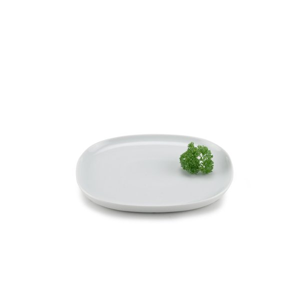 25*30 cm superellipse Plate WHITE - piet hein