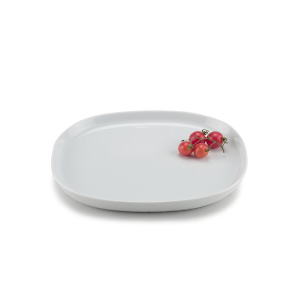 20*24 cm superellipse Plate WHITE - piet hein